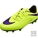 Nike Youth Hypervenom Phelon FG Soccer Cleats - Volt and Black