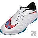 Nike KIds Hypervenom Phelon IC Indoor Shoes - White and Red