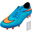 Nike Hypervenom Phantom FG Soccer Cleats - Blue and Red