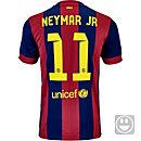 Nike Kids Neymar Barcelona Home Jersey 2014-15