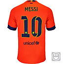 Nike Kids Messi Barcelona Away Jersey 2014-15