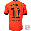 Nike Kids Neymar Barcelona Away Jersey 2014-15
