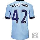 Nike Kids Yaya Toure Manchester City Home Jersey 2014-15