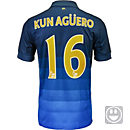 Nike Kids Aguero Manchester City Away Jersey 2014-15