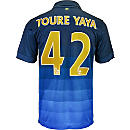 Nike Yaya Toure Manchester City Away Jersey 2014-15