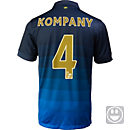 Nike Kids Kompany Manchester City Away Jersey 2014-15