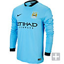 Nike Manchester City 2014-15 Long Sleeve Home Jersey