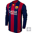 Nike Barcelona Long Sleeve Home Jersey 2014-2015