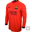 Nike Barcelona Long Sleeve Away Jersey 2014-2015