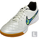 Nike Tiempo Genio IC Indoor Shoes - White and Blue