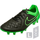 Nike Tiempo Legend V FG Soccer Cleats - Black and Green