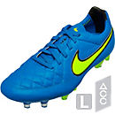 Nike Tiempo Legend V FG Soccer Cleats - Blue and Volt