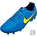Nike Tiempo Legacy FG Soccer Cleats - Blue and Volt