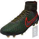 Nike Magista Obra FG Soccer Cleats - Black and Rough Green