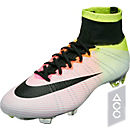 Nike Mercurial Superfly FG Soccer Cleats- White & Volt