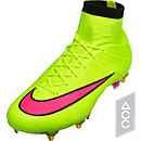 Nike Mercurial Superfly SG-Pro Soccer Cleats - Volt and Hyper Pink