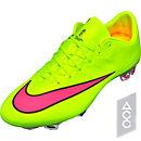 Nike Mercurial Vapor X FG Soccer Cleats - Volt and Pink
