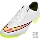 Nike Kids Mercurial Vapor X FG Soccer Cleats - White and Pink
