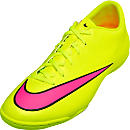 Nike Mercurial Victory V Indoor Shoes - Volt and Pink
