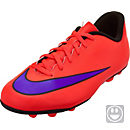 Nike Youth Mercurial Vortex II FG-R Soccer Cleats - Red and Purple
