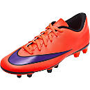 Nike Mercurial Vortex II FG Soccer Cleats - Red and Violet