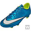 Nike Womens Mercurial Victory V FG Soccer Cleats - Blue and White