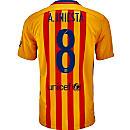 Nike Andres Iniesta Barcelona Away Jersey 2015