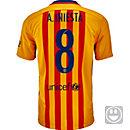 Nike Kids Andres Iniesta Barcelona Away Jersey 2015-16