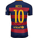 Nike Lionel Messi Barcelona Home Match Jersey 2015-16
