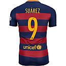 Nike Luis Suarez Barcelona Home Match Jersey 2015