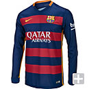 Nike Barcelona L/S Home Jersey 2015-2016