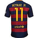 Nike Kids Neymar Barcelona Home Jersey 2015-16