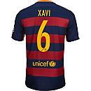 Nike Xavi Barcelona Home Jersey 2015-16