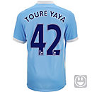Nike Kids Yaya Toure Manchester City Home Jersey 2015-16
