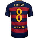 Nike Andres Iniesta Barcelona Home Jersey 2015-16