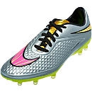 NIke Neymar Hypervenom Phelon FG Soccer Cleats - Chrome and Gold