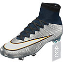 Nike Mercurial Superfly CR FG Soccer Cleats - Silver and Turquoise