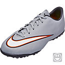Nike Youth Mercurial Victory V CR7 TF Turf Shoes - Silver Turquoise