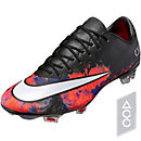 Nike Mercurial CR7 Vapor X FG Soccer Cleats - Black & Total Crimson