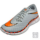 Nike Kids Free Hypervenom Indoor Shoes - Wolf Grey and White