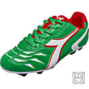 Diadora Kids Capitano MD FG Soccer Cleats - Green and White