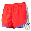 Nike Womens Tempo Short  Crimson with Volt