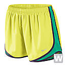 Nike Womens Tempo Short  Electric Yellow with Purple