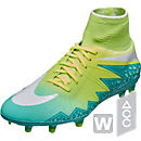 Nike Womens Hypervenom Phantom II FG Soccer Cleats - Rage Green & White