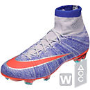 Nike Womens Mercurial Superfly FG Soccer Cleats - Blue Tint & Bright Mango