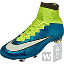 Nike Womens Mercurial  Superfly FG Soccer Cleats - Blue Lagoon
