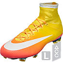 Nike Womens Mercurial Superfly FG Soccer Cleats - Bright Mango & White