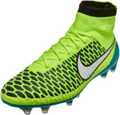 Nike MAGISTA OBRA LTHR FG mens soccer shoes BLACK TURQUOISE 938c67c16
