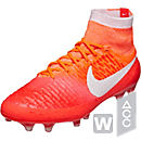 Nike Womens Magista Obra FG Soccer Cleats - Bright Crimson & White