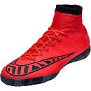 Nike MercurialX Proximo Indoor Shoes - Bright Crimson and Hot Lava
